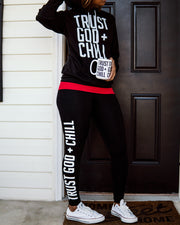 Trust God + Chill 3pc Special (Hoodie + Mug + Leggings)