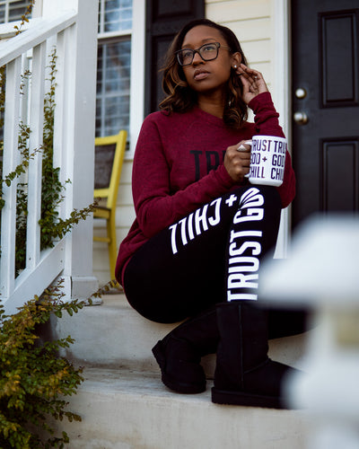 Trust God + Chill 3pc Special (Sweatshirt + Mug + Leggings)
