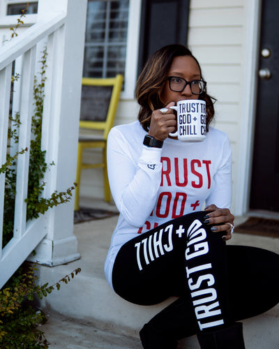 Trust God + Chill 3pc Special (L/S Shirt + Mug + Leggings)