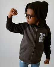 Trust God + Chill Kids Full-Zip Hoodie