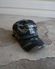 Trust God + Chill Kids Dad Hat (Distressed)