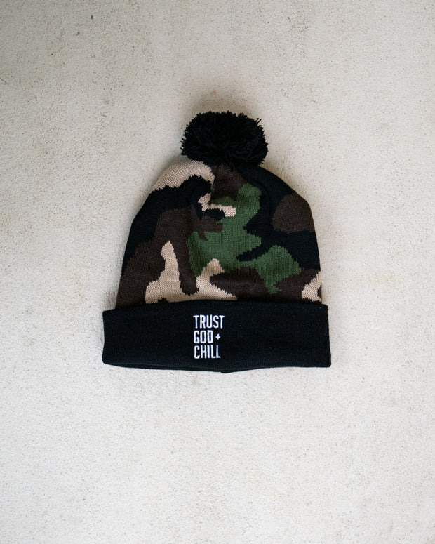 Trust God + Chill Kids Beanie