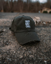 Trust God and Chill Adult Dad Hat (Distressed)