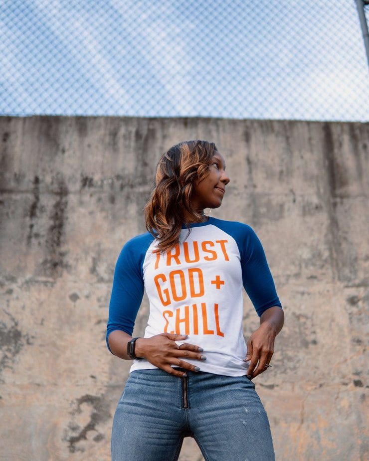 Trust God + Chill Adult Raglan