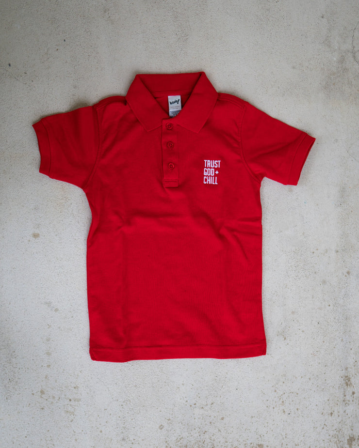 Trust God + Chill Kids Polo