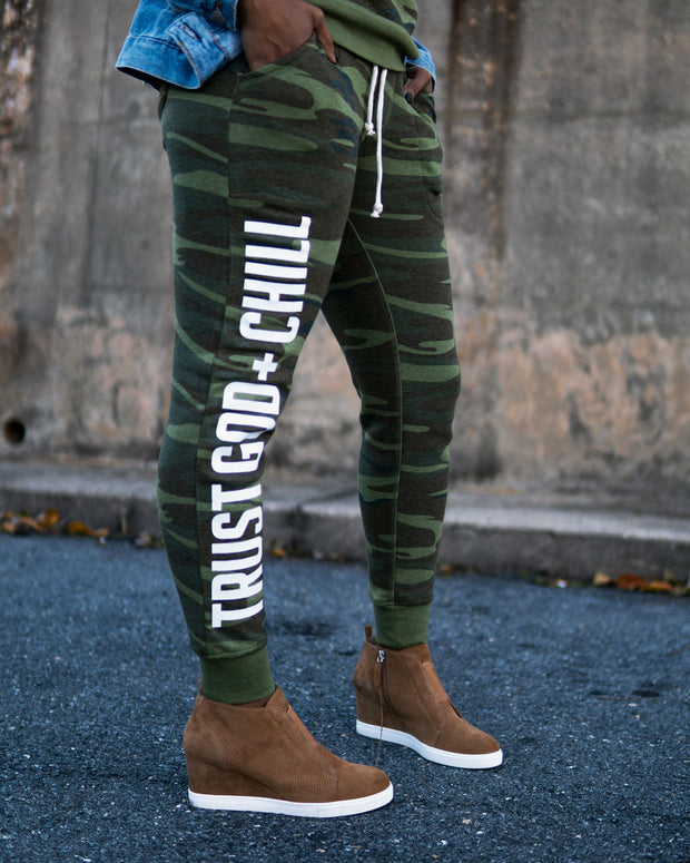 Trust God + Chill Women's Joggers