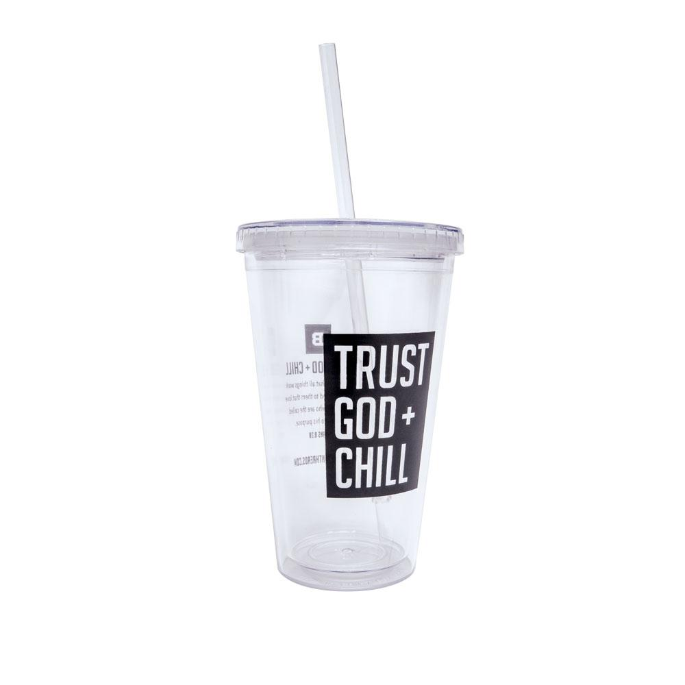Trust God + Chill Grande 16 oz. Tumbler w/ Straw