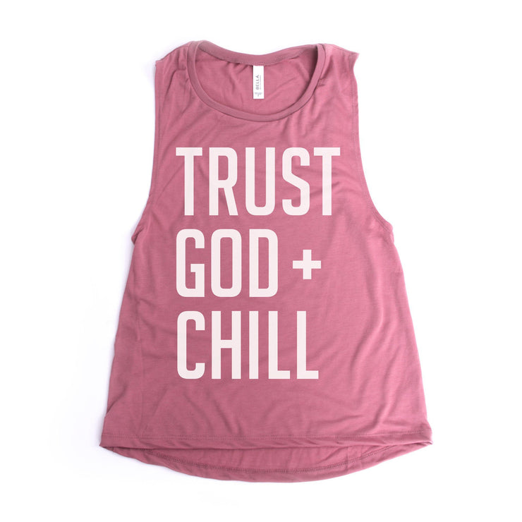 Trust God + Chill Women's Muscle Tank