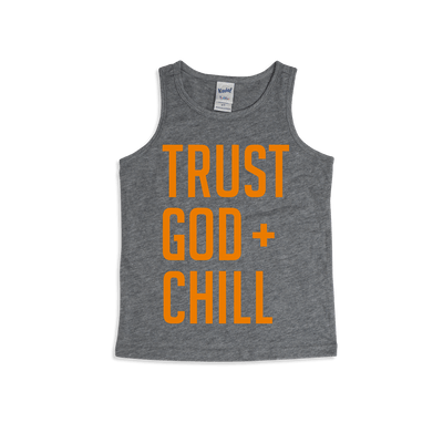 Trust God + Chill Orange Kids Tank