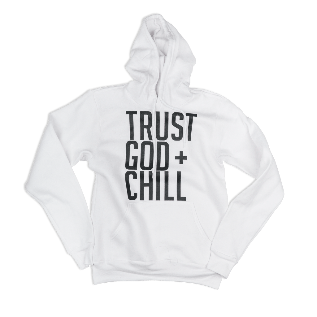 Trust God + Chill (Limited Edition) White Adult Pullover