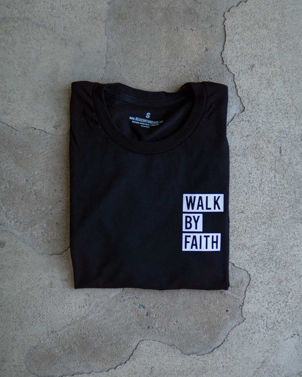 Walk By Faith Pocket Adult T-Shirt