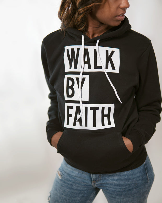 Walk By Faith Block Print Adult Pullover