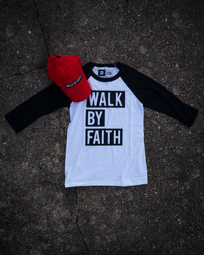 Walk By Faith Adult Raglan