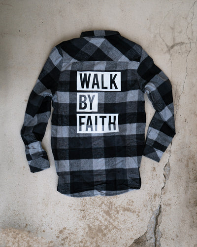 Walk By Faith Adult Plaid Shirt