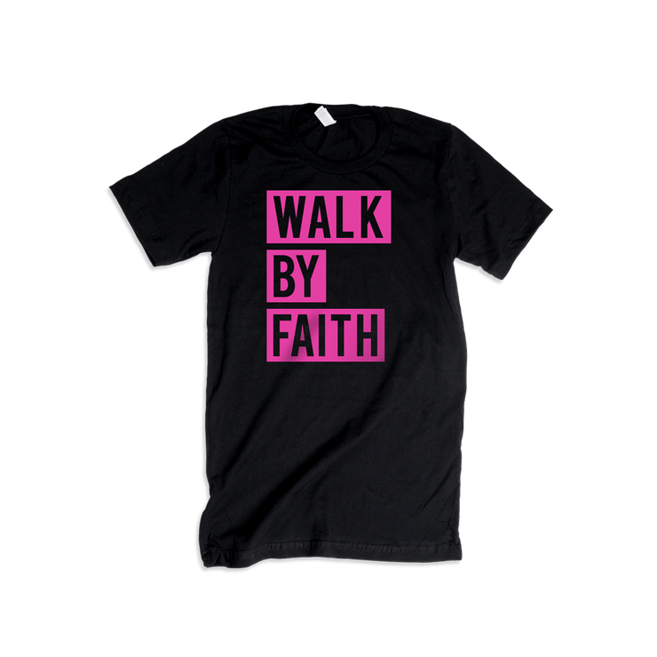 Walk By Faith Adult T-Shirt