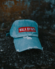 Walk By Faith Adult Dad Hat (Distressed)