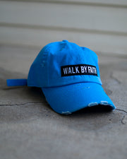 (Neon) Walk By Faith Adult Dad Hat (Distressed)