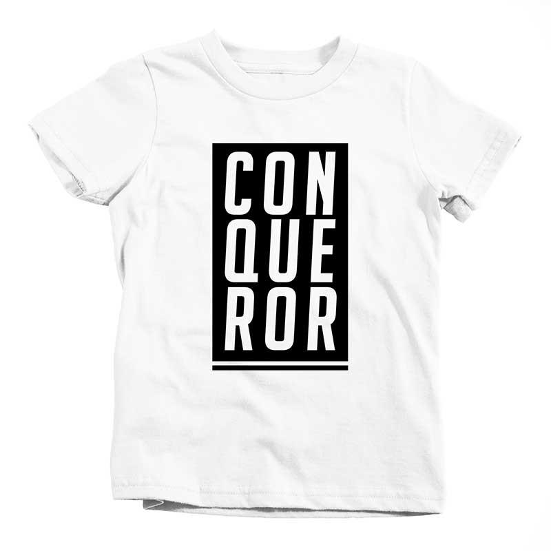Conqueror Tee - Beacon Threads - 2T / White w/ Black Lettering - 1