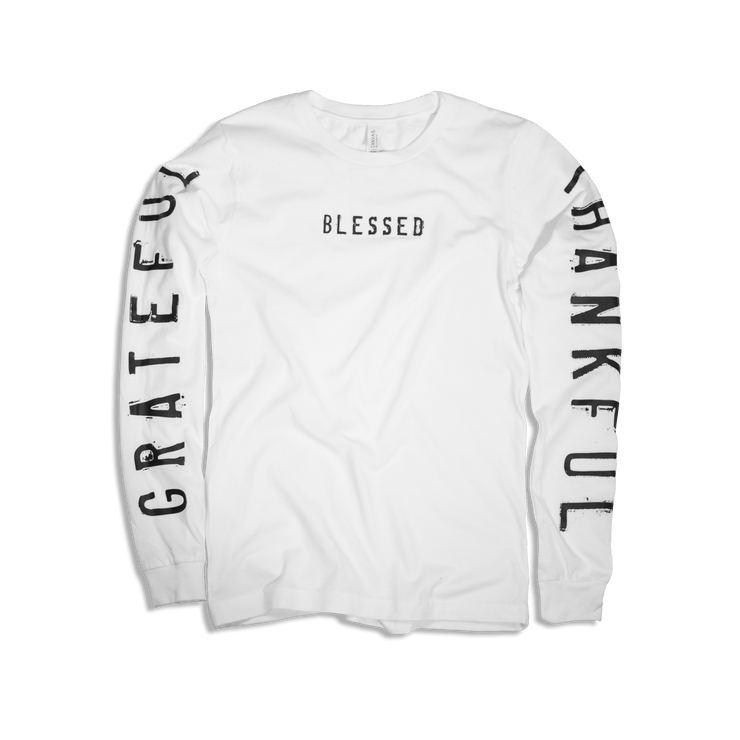 Grateful Thankful Blessed Adult L/S
