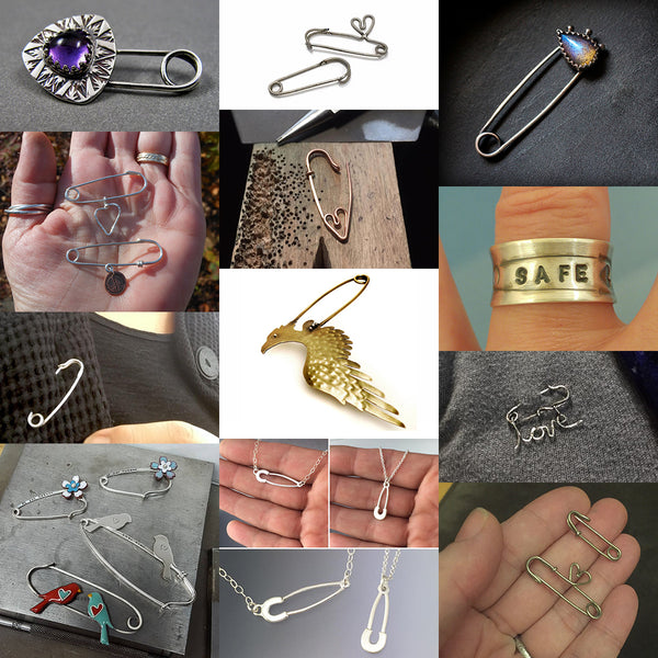 Image collage of EtsyMetal Safety Pin project