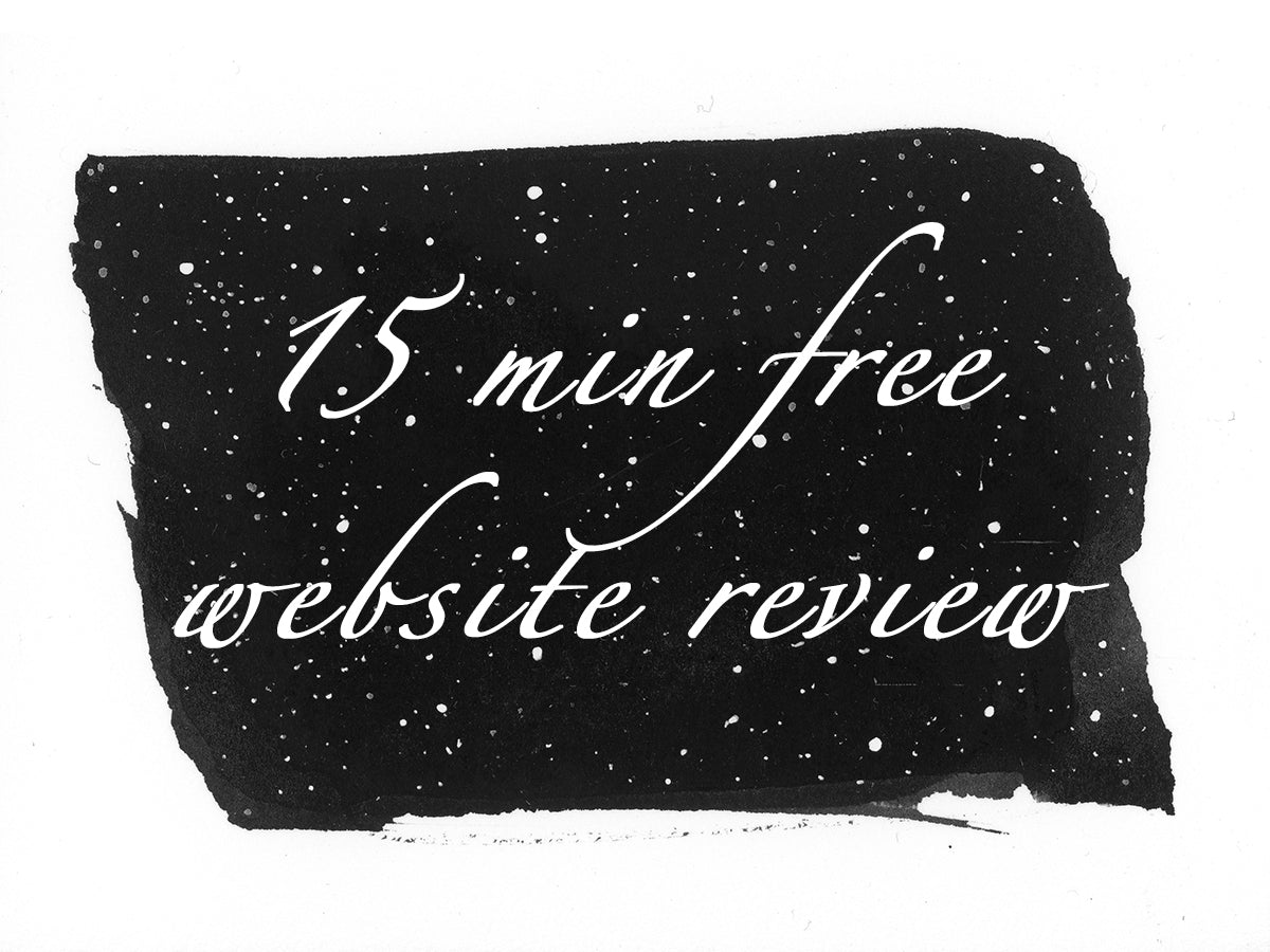 15 min website review