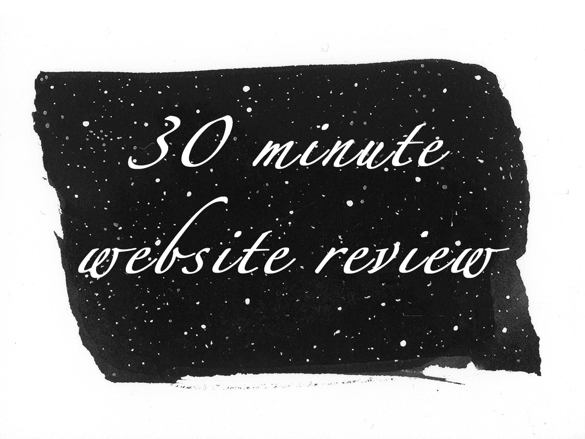 30 minute website review