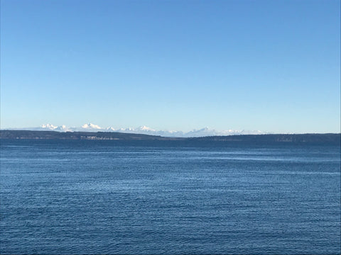 cascade mountains from port townsend