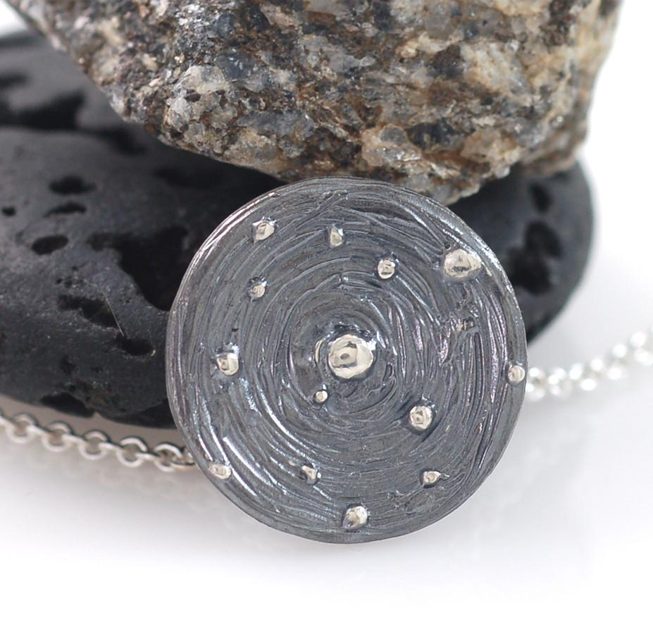 Galaxy Pendant in Sterling Silver - Made to Order - Beth Cyr Handmade Jewelry