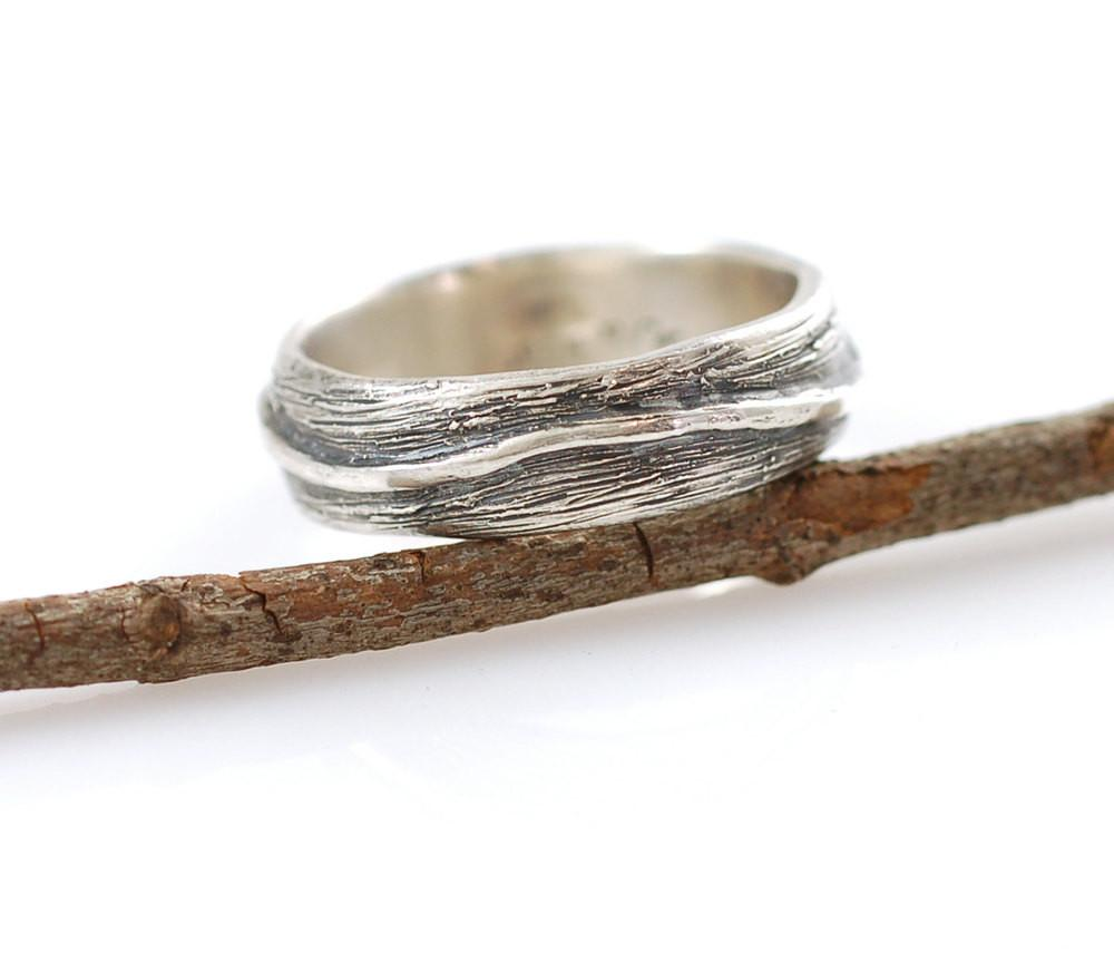 Shadowed Vine Ring in Palladium Sterling Silver - size 12.5 - Ready to Ship - Beth Cyr Handmade Jewelry