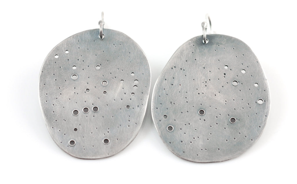 Constellation Earrings in Sterling Silver - Orion and Pleiades - Ready to Ship - Beth Cyr Handmade Jewelry