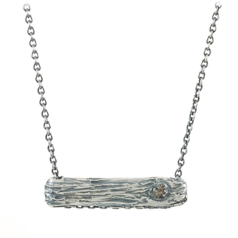 Tree Bark Necklace in Sterling Silver - Ready to Ship - Beth Cyr Handmade Jewelry