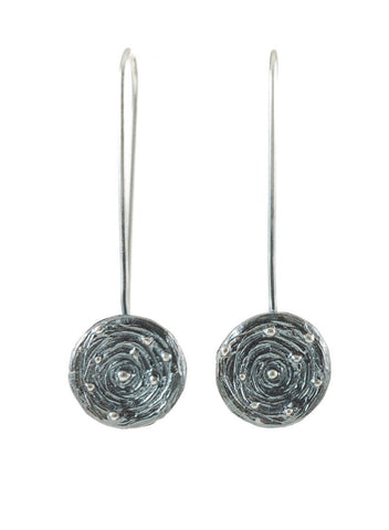 Galaxy Earrings in Sterling Silver - Made to Order - Beth Cyr Handmade Jewelry