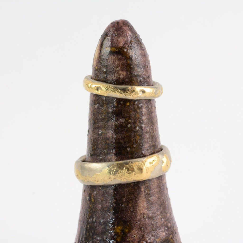 Conical Ring Holder - Ceramic Stoneware in Wood-Fire Brown - Beth Cyr Handmade Jewelry