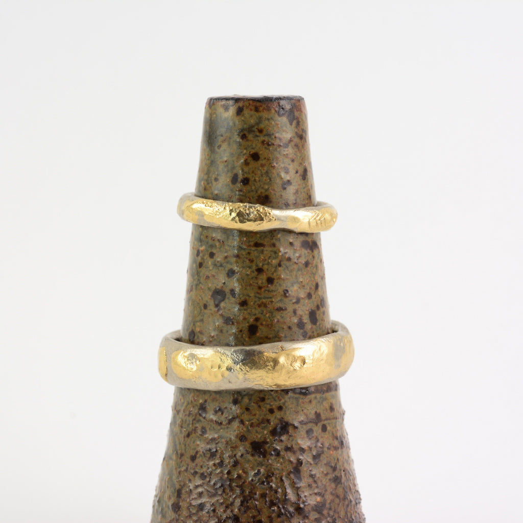 Conical Ring Holder - Ceramic Stoneware in Speckled Green-Brown - Beth Cyr Handmade Jewelry