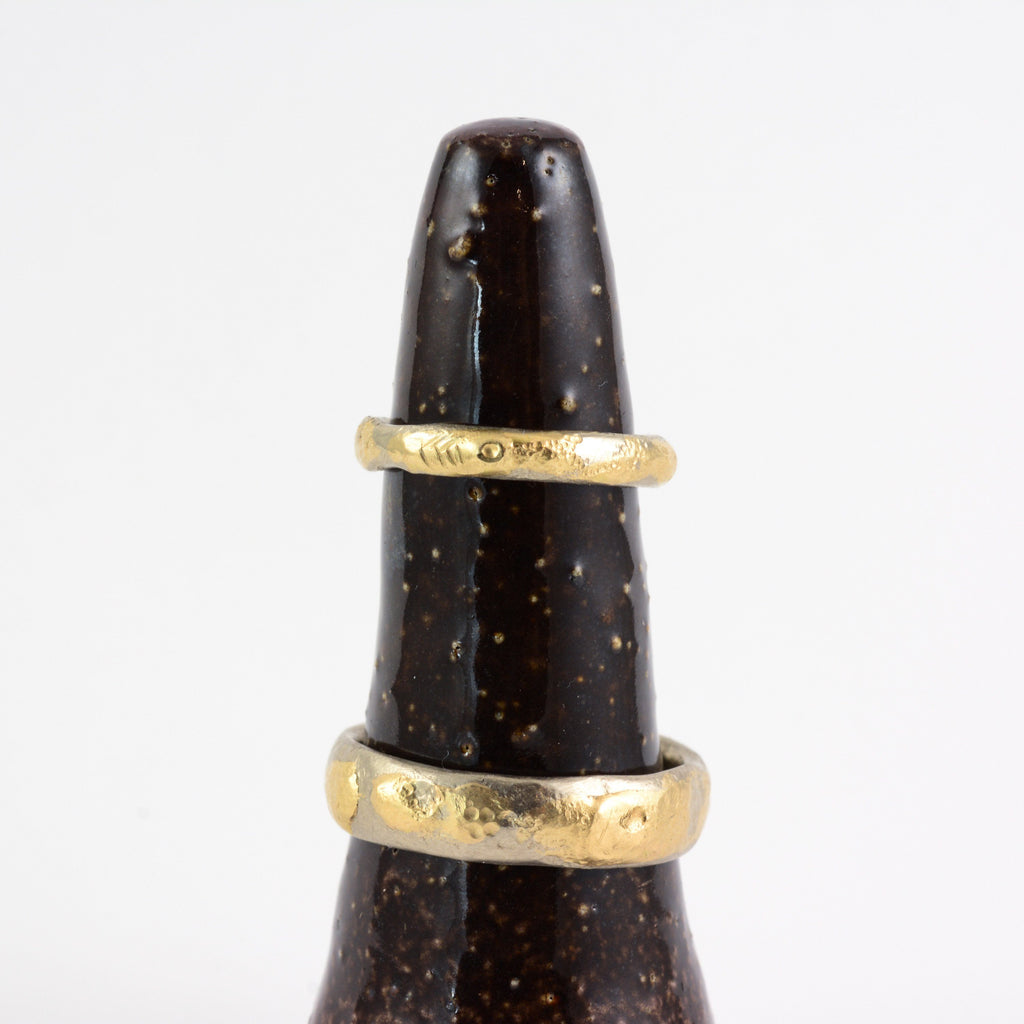 Conical Ring Holder - Ceramic Stoneware in Starry Midnight Glaze - Beth Cyr Handmade Jewelry