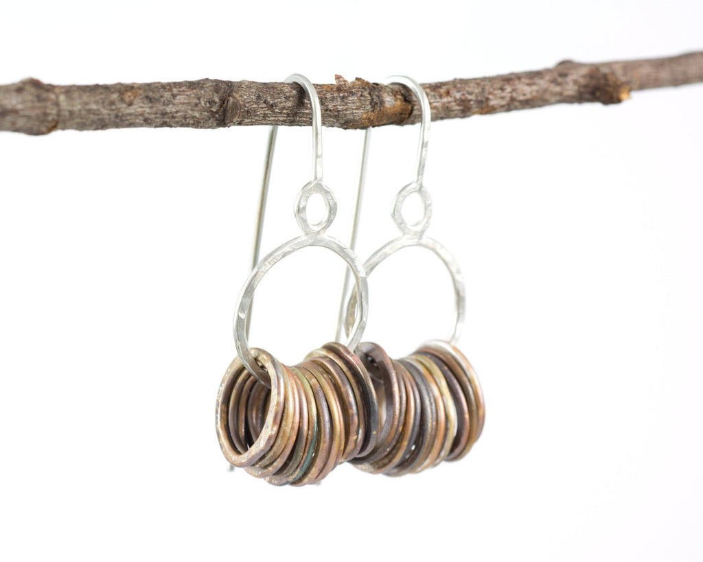 Circle Earrings in Sterling Silver #1 - Ready to ship