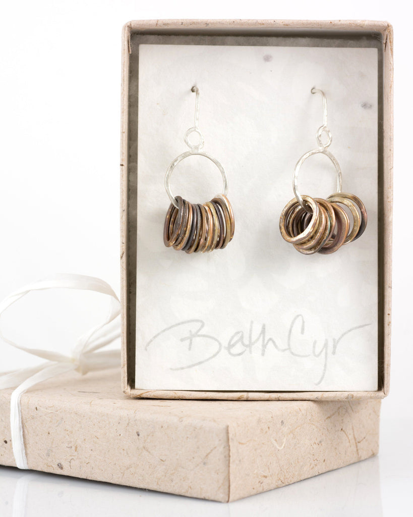 Circle Earrings in Sterling Silver #1 - Ready to ship - Beth Cyr Handmade Jewelry