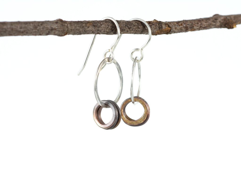 Circle Earrings in Sterling Silver #2 - Ready to ship