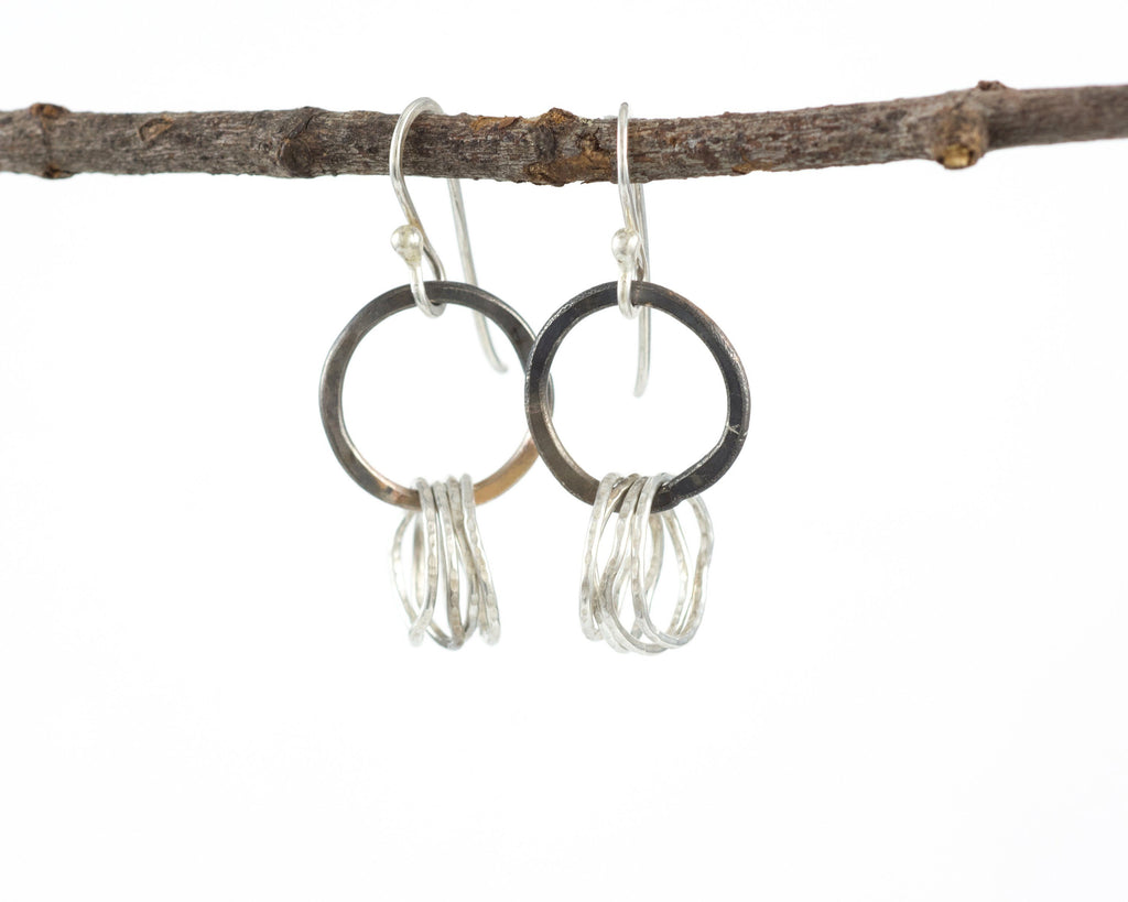 Circle Earrings in Sterling Silver #3 - Ready to ship - Beth Cyr Handmade Jewelry
