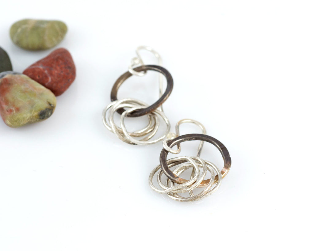 Circle Earrings in Sterling Silver #3 - Ready to ship