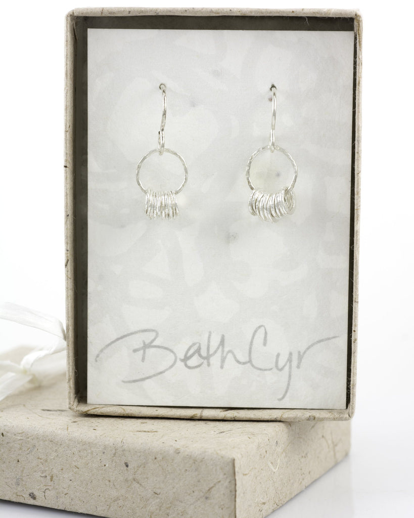 Circle Earrings in Sterling Silver #11 - Ready to ship - Beth Cyr Handmade Jewelry