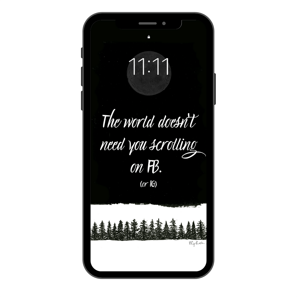 The world doesn't... Phone Wallpaper or Lock screen