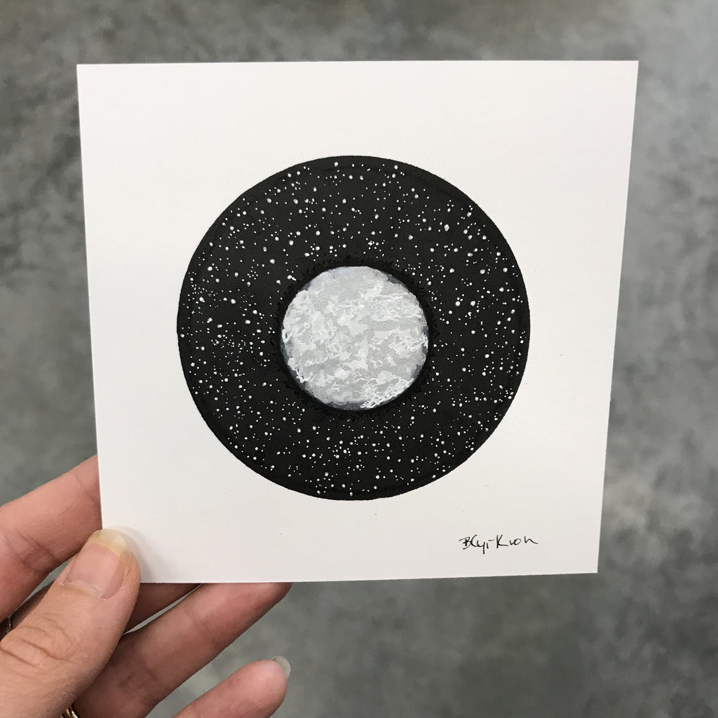 "91/100 - 100 Day Drawing Project - Original Drawing - 4"" x 4"" - Beth Cyr Handmade Jewelry"