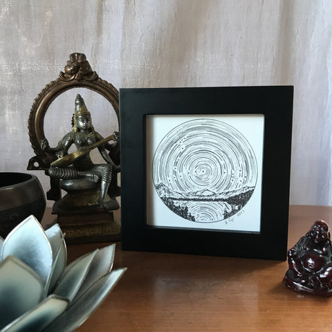 Original Drawing - Pisces - Star trails - Zodiac Constellations - Beth Cyr Handmade Jewelry