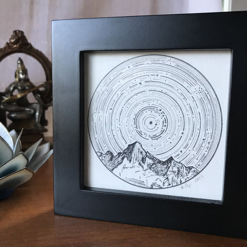 Original Drawing - Taurus - Star Trails - Zodiac Constellations - Beth Cyr Handmade Jewelry