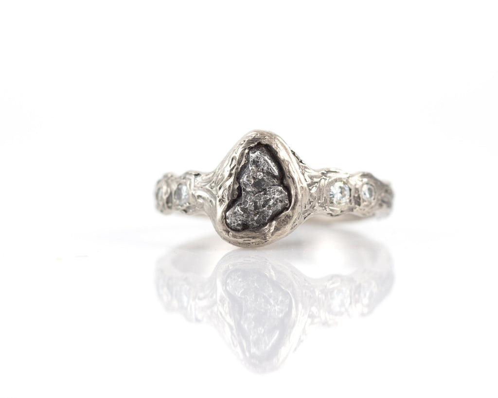 diamond beautiful elegant ring wedding engagement corners rings set meteorite setting inspiration halo