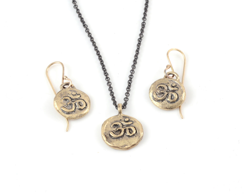 Om Pendant - 14k Yellow Gold - Ready to Ship - Beth Cyr Handmade Jewelry