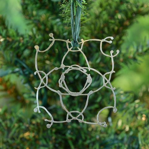 snowflake christmas tree ornament by beth cyr