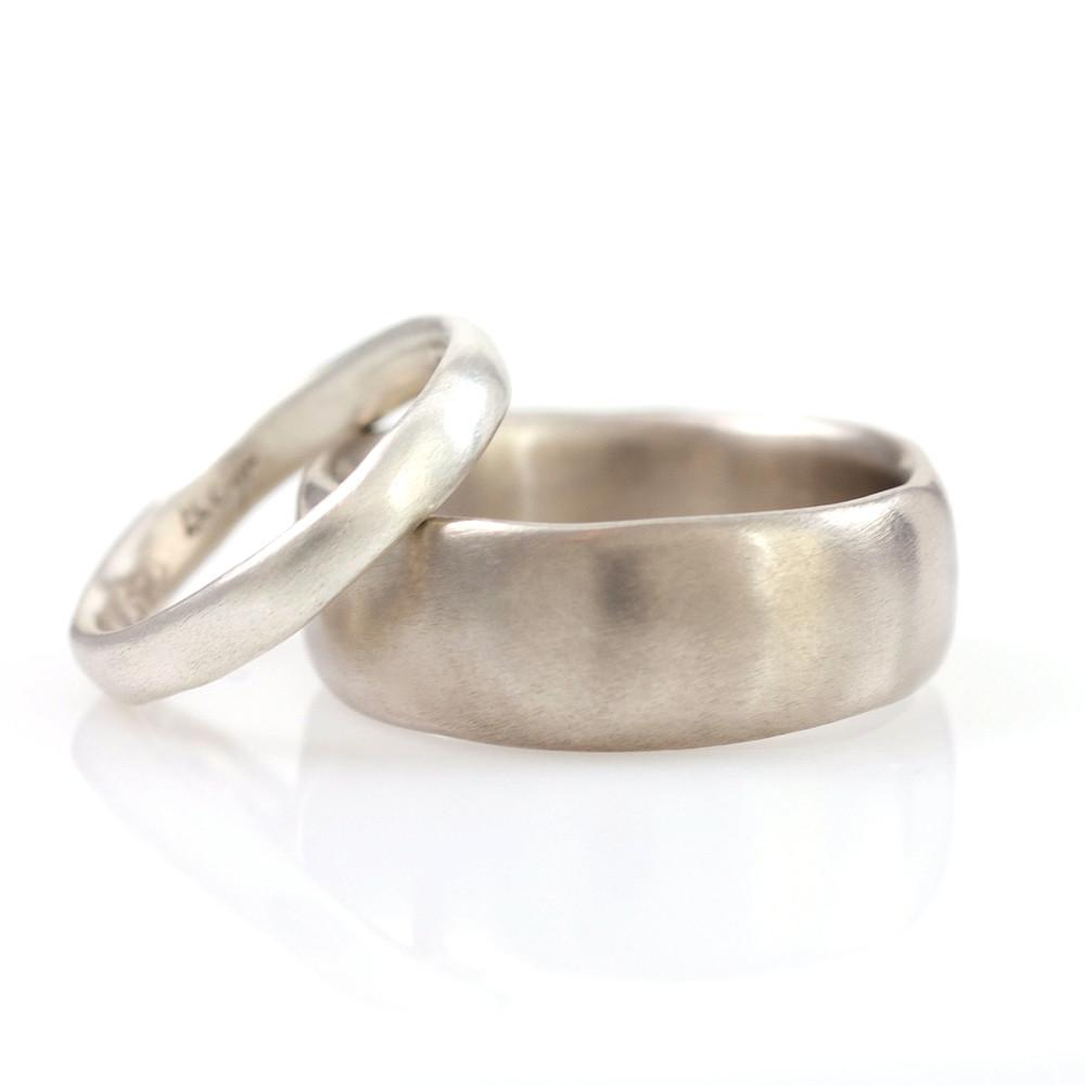 Simplicity Wedding Rings in Palladium/Silver - Made to Order - Beth Cyr Handmade Jewelry