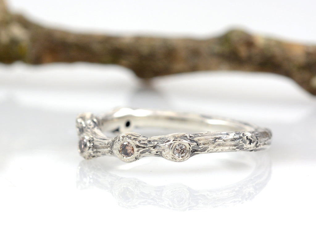 Custom Order for Alison - Twig Ring with Diamonds - Final payment - Beth Cyr Handmade Jewelry